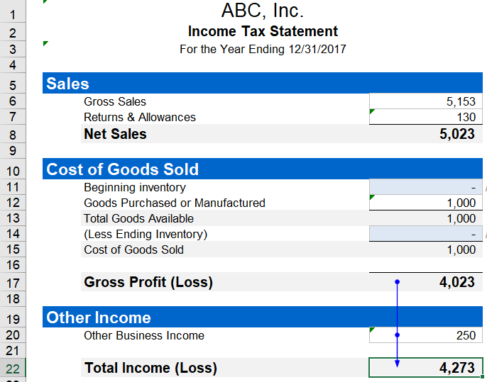 how to do taxes in excel
