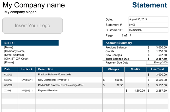 account-statement-template