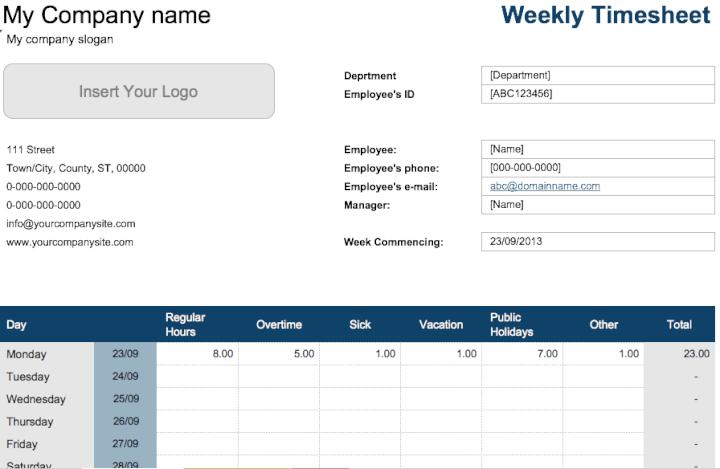 weekly-timesheet-template