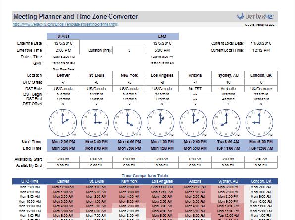 world-meeting-planner-template