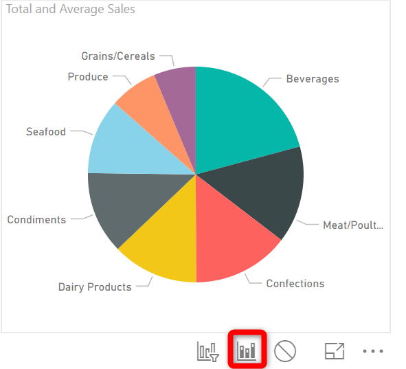 Power-BI-pie-chart-highlight-button