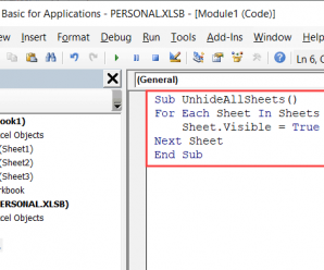 How to Unhide Sheets in Excel (All In One Go)