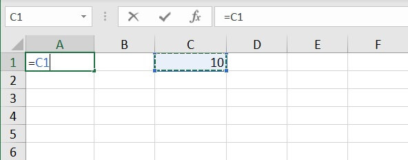 Absolute reference Excel