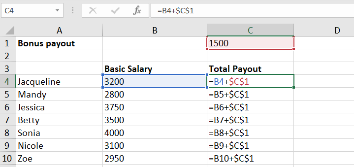absolute reference excel example